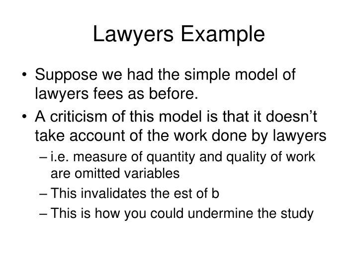 Lawyers Example