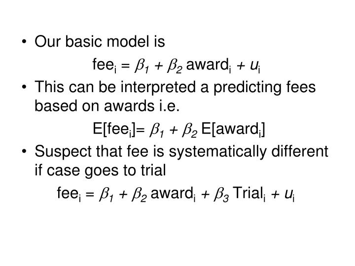 Our basic model is