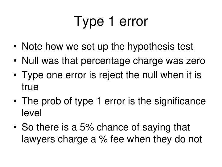 Type 1 error