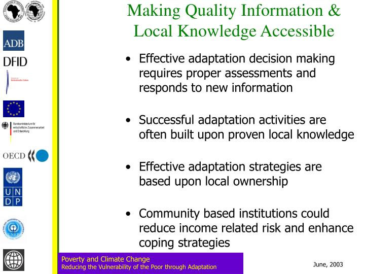 Making Quality Information & Local Knowledge Accessible