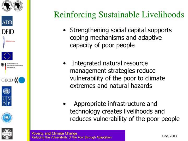 Reinforcing Sustainable Livelihoods
