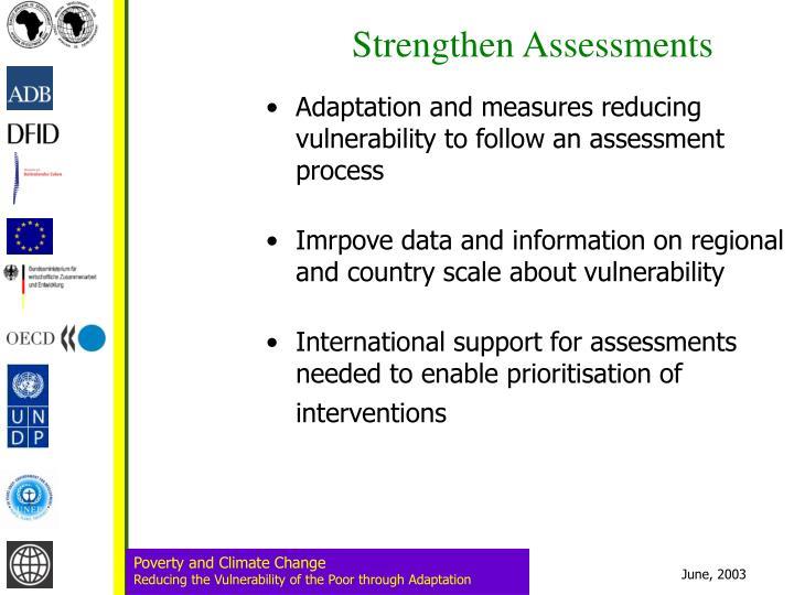 Strengthen Assessments