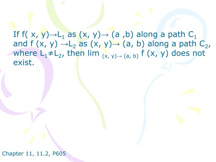 If f( x, y)→L