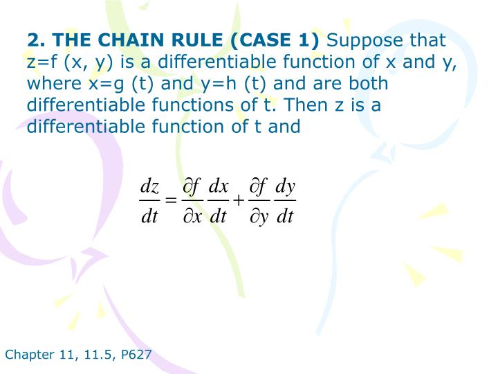 2. THE CHAIN RULE (CASE 1)