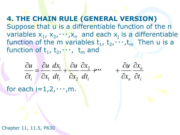 4. THE CHAIN RULE (GENERAL VERSION)