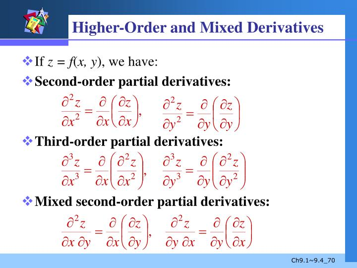 Higher-Order and Mixed Derivatives