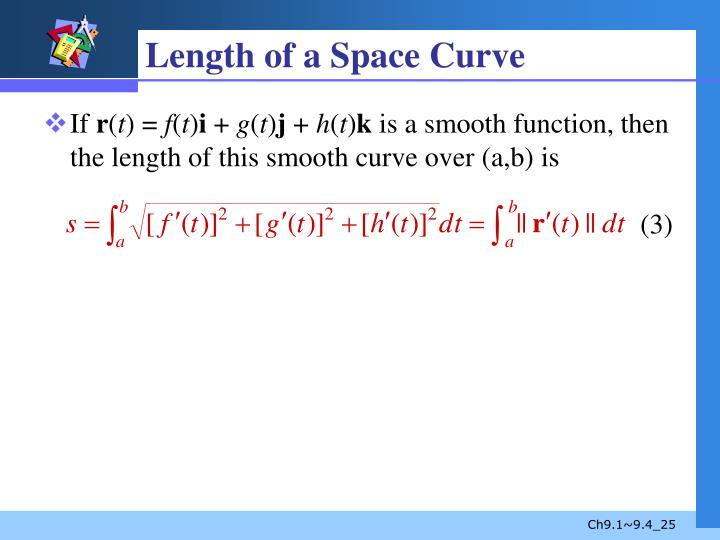 Length of a Space Curve