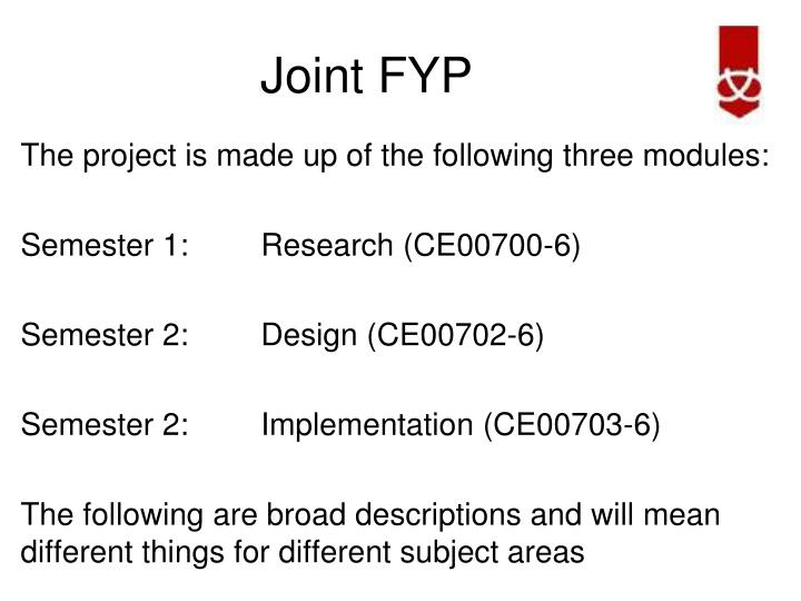 Joint FYP