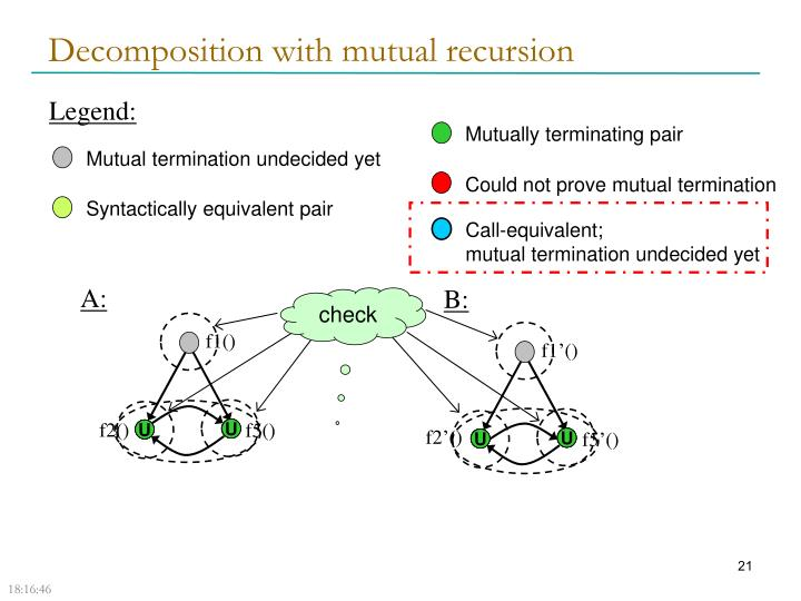 Decomposition with mutual recursion