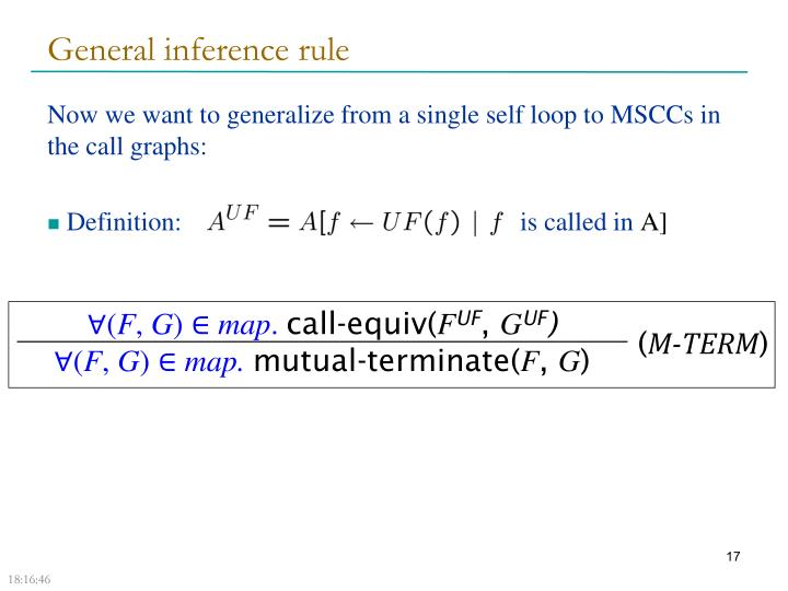 General inference rule