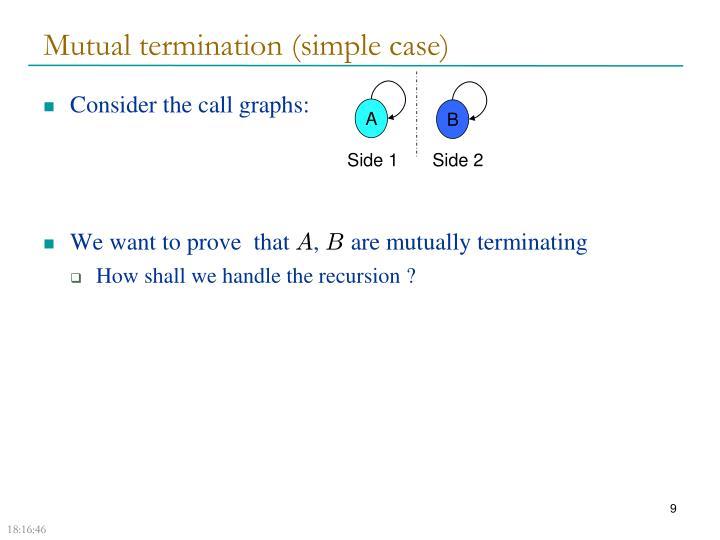 Mutual termination (simple case)