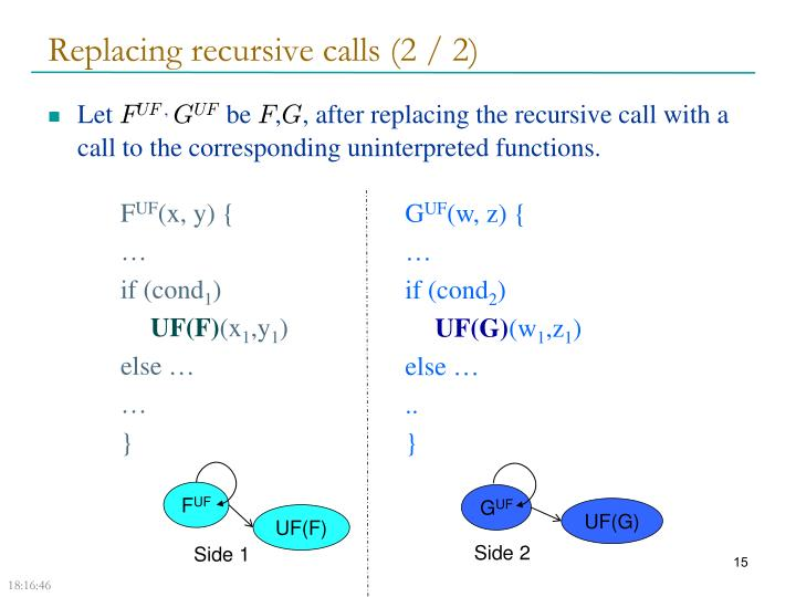 Replacing recursive calls (2 / 2)
