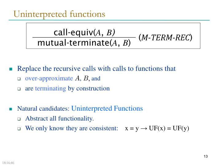 Uninterpreted functions