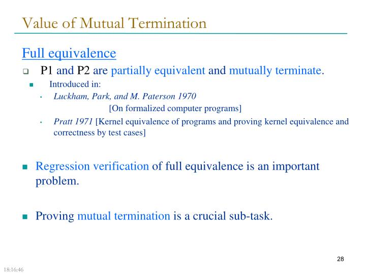 Value of Mutual Termination
