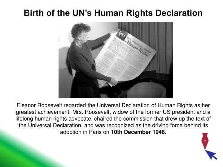 Birth of the UN's Human Rights Declaration