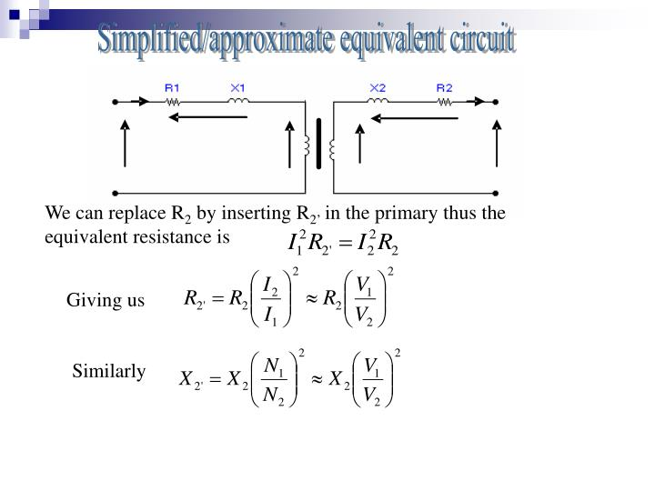 Simplified/approximate equivalent circuit
