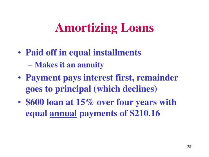 Amortizing Loans