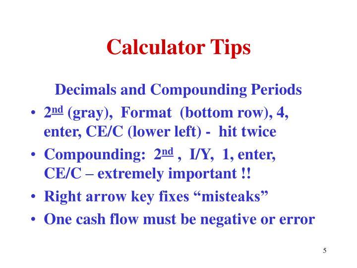 Calculator Tips