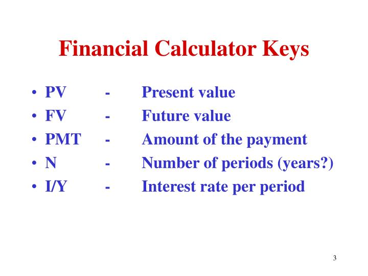 Financial Calculator Keys