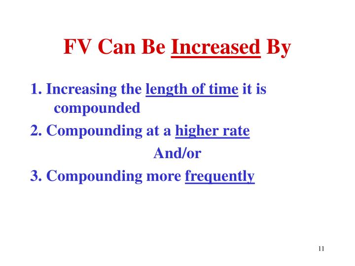 FV Can Be