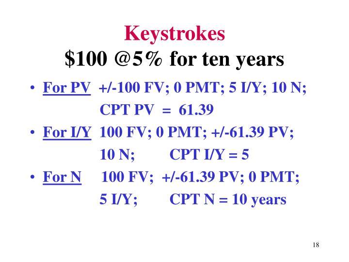 Keystrokes