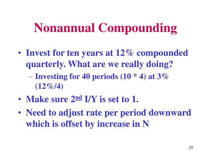 Nonannual Compounding