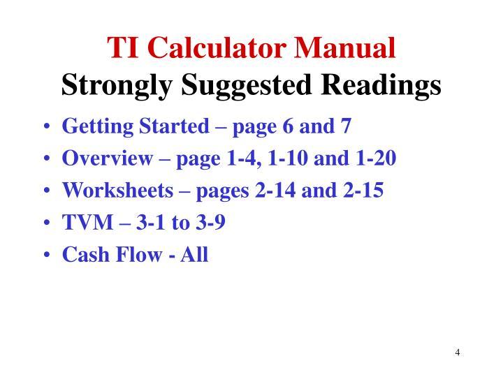 TI Calculator Manual