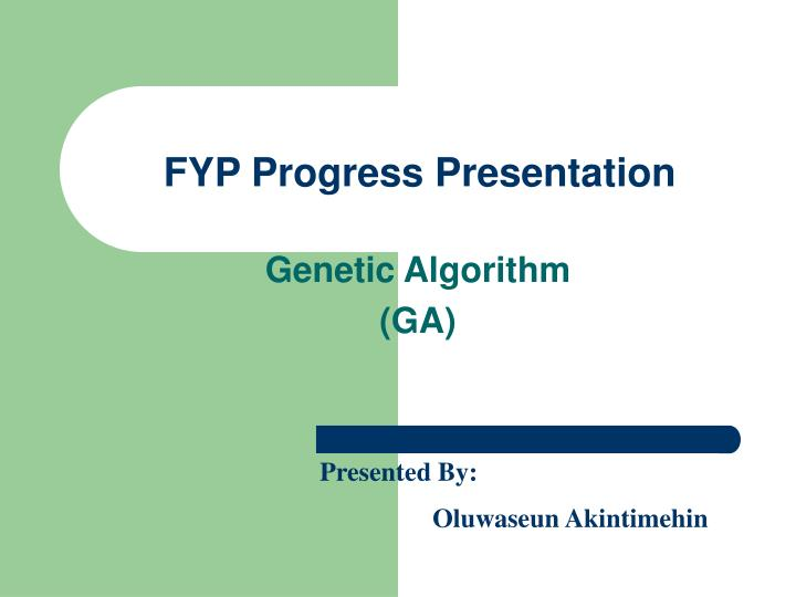 fyp progress presentation