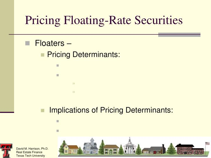 Pricing Floating-Rate Securities