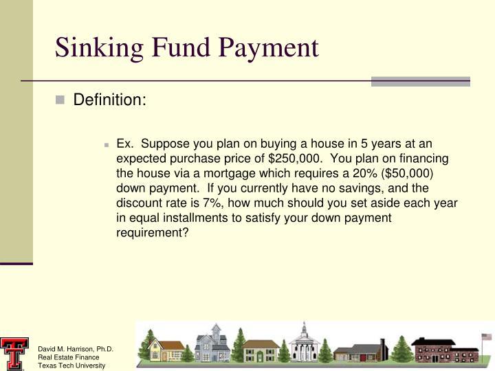 Sinking Fund Payment
