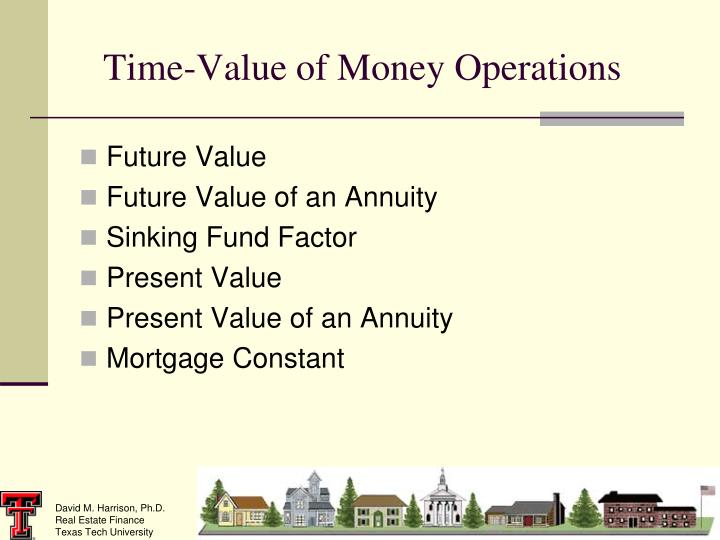 Time-Value of Money Operations