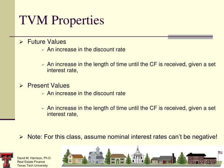 TVM Properties