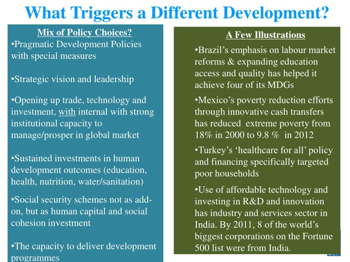 What Triggers a Different Development?