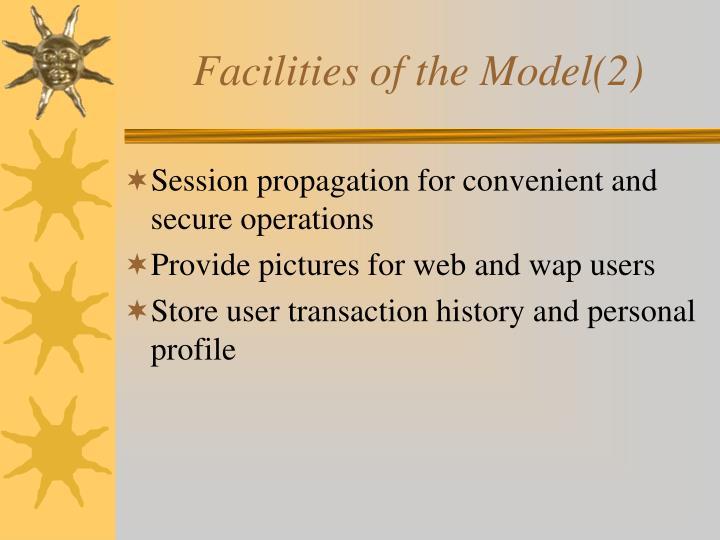 Facilities of the Model(2)