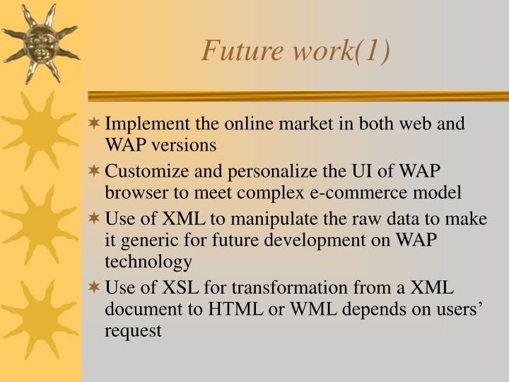 Future work(1)
