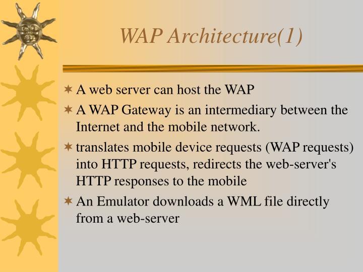 WAP Architecture(1)