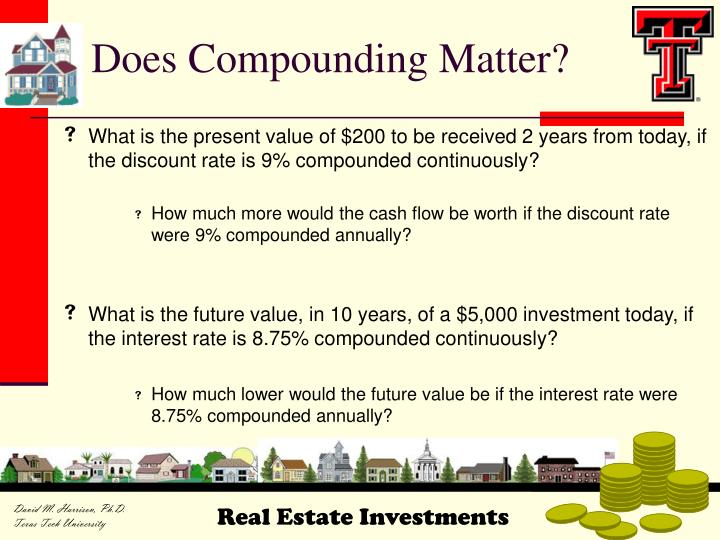 Does Compounding Matter?