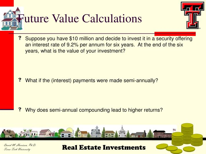 Future value calculations
