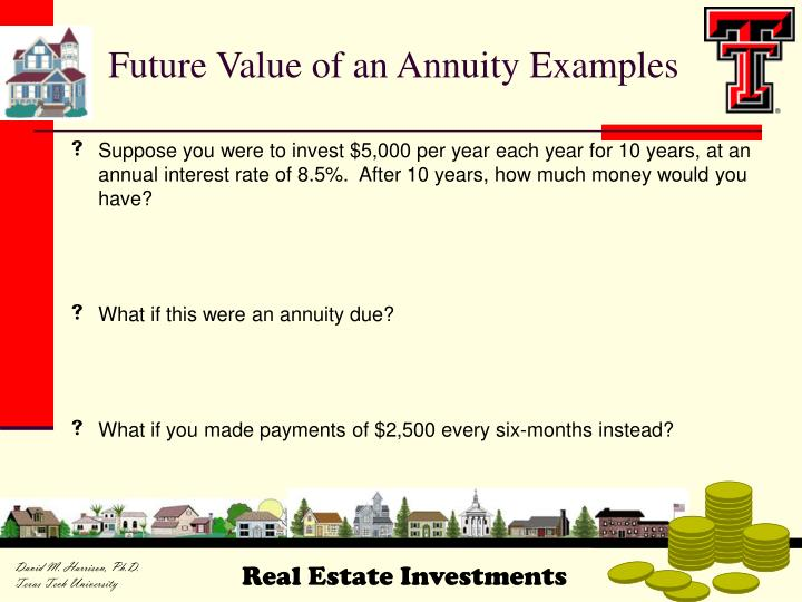 Future Value of an Annuity Examples