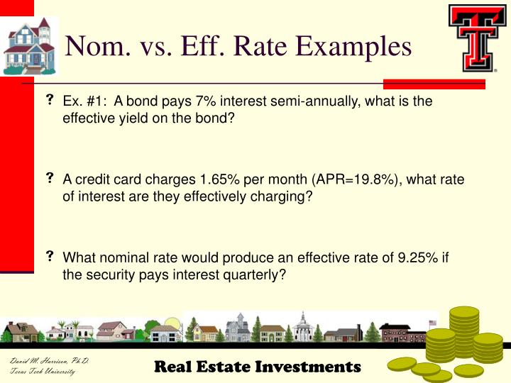 Nom. vs. Eff. Rate Examples