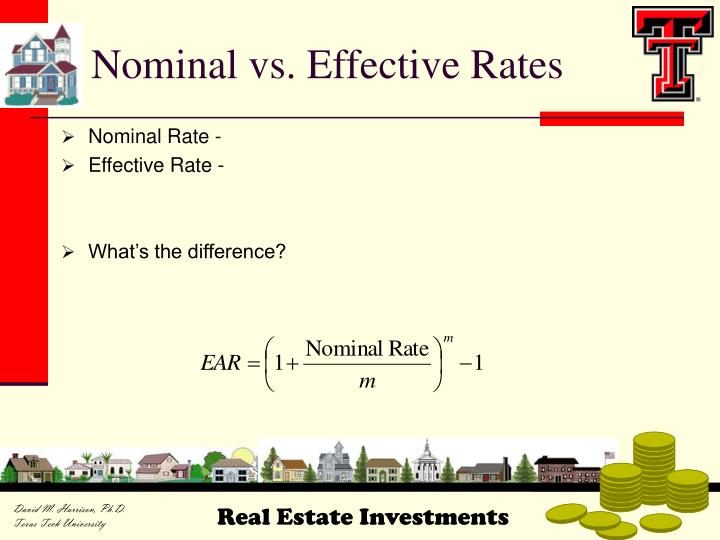Nominal vs. Effective Rates