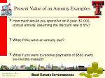 present value of an annuity examples
