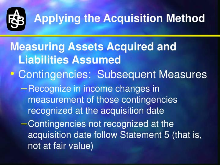 Applying the Acquisition Method