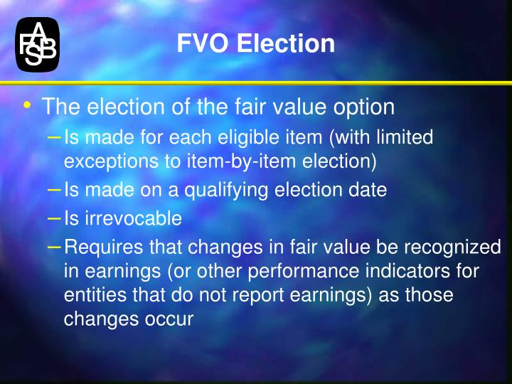 FVO Election