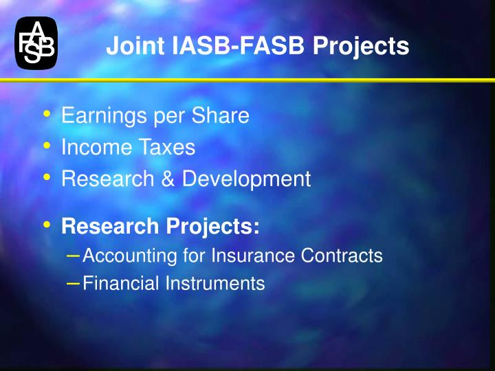 Joint IASB-FASB Projects