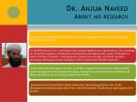 dr anjum naveed about his research