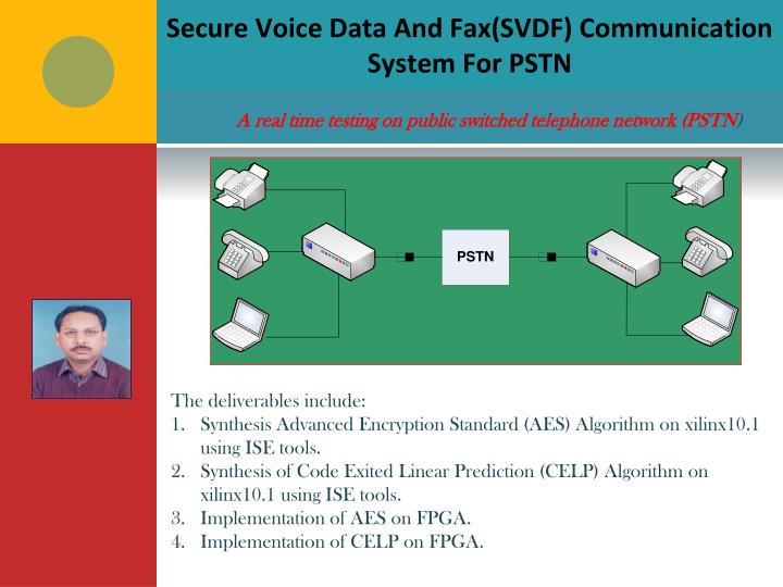 Secure Voice Data And Fax(SVDF) Communication System For PSTN