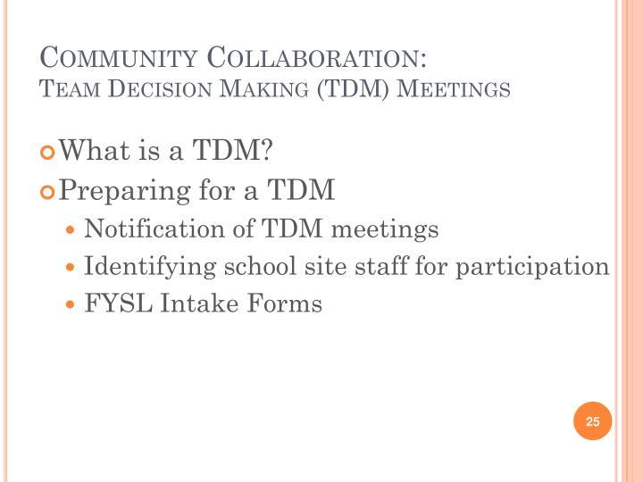 Community Collaboration: