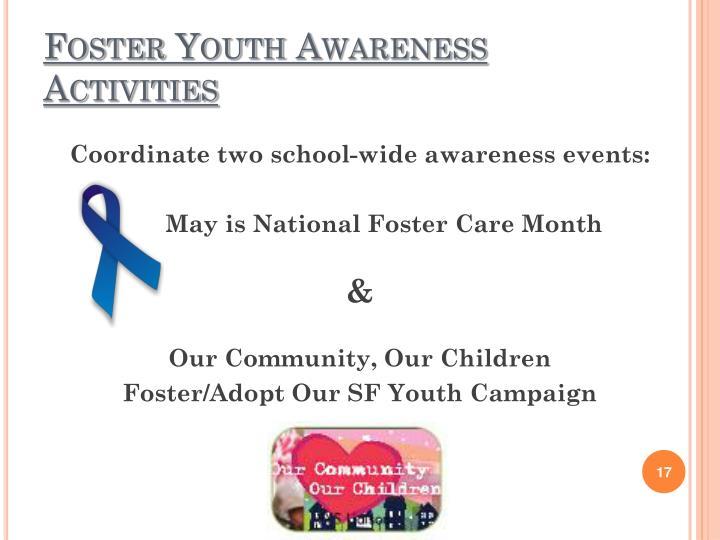 Foster Youth Awareness Activities