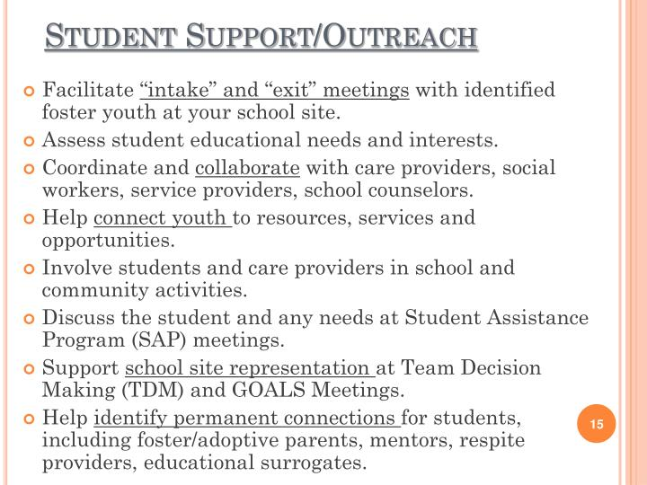 Student Support/Outreach